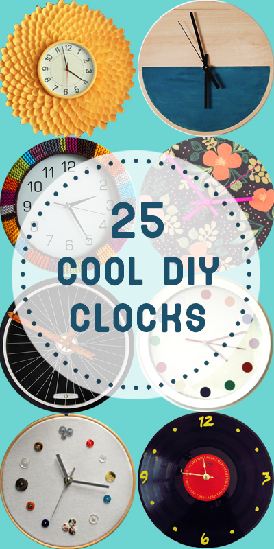 25 Cool DIY Clocks | Remodelaholic.com