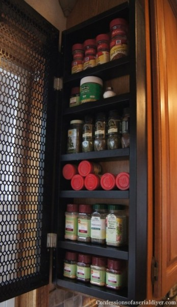 28. space saving spice cabinet tutorial