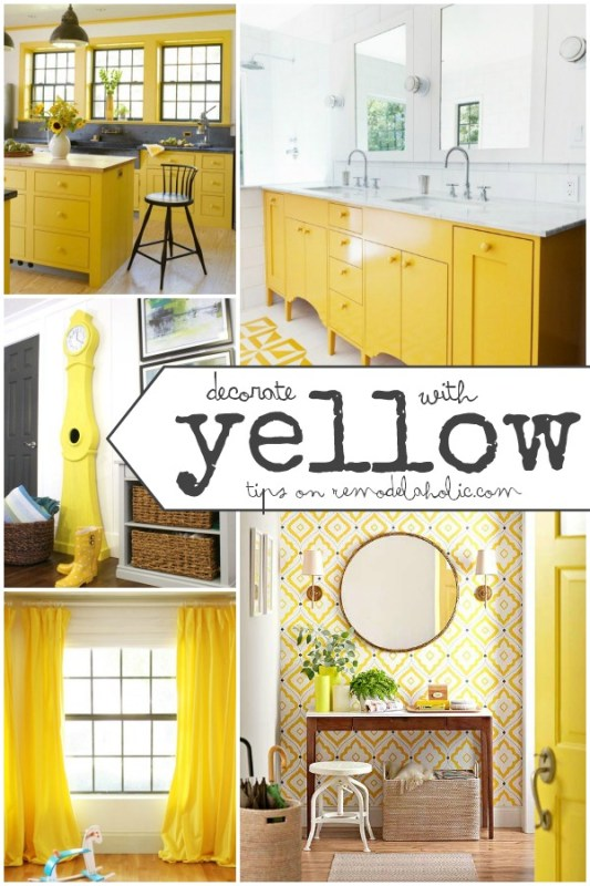 Decorate with Yellow on Remodelaholic