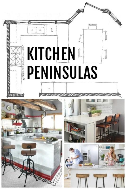 Kitchen Peninsula Designs via Remodelaholic.com