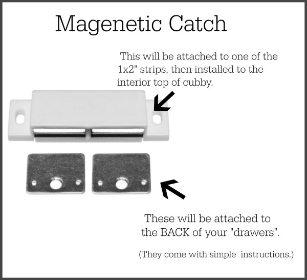 Magnetic catch remodelaholic.com