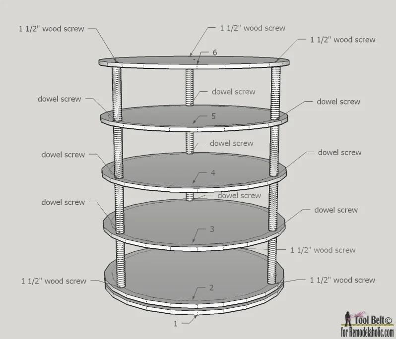 Lovely 48 Cd/ Black Rotating Tower/ Plastic Rack Storage Display Music