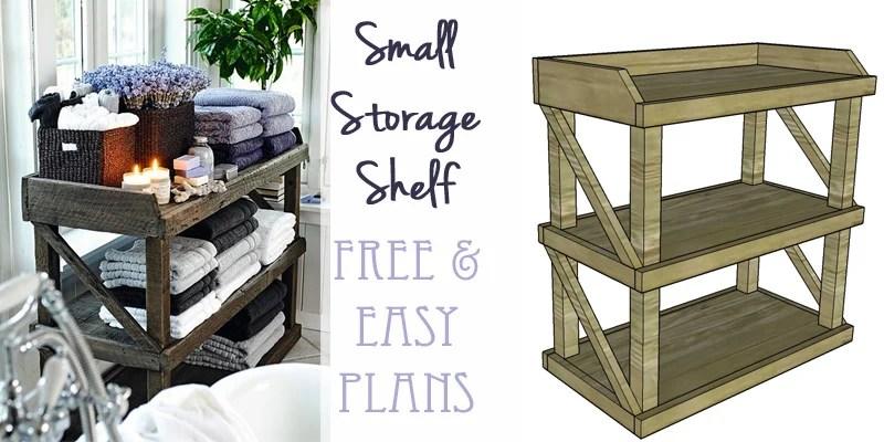 Remodelaholic  DIY Small Open Shelf Building Plan