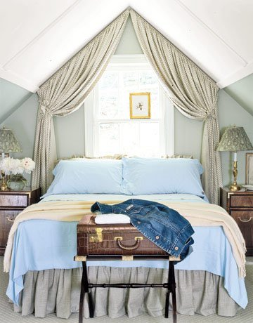 canopy-for-sloping-ceiling-apartment-therapy & Remodelaholic | 25 Beautiful Bed Canopies You Can DIY