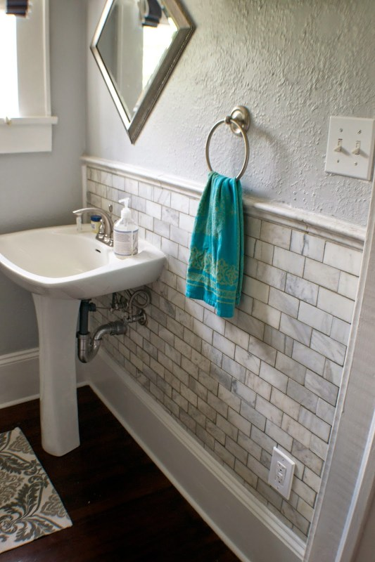 complete bathroom remodel 07, Seesaws and Sawhorses on Remodelaholic