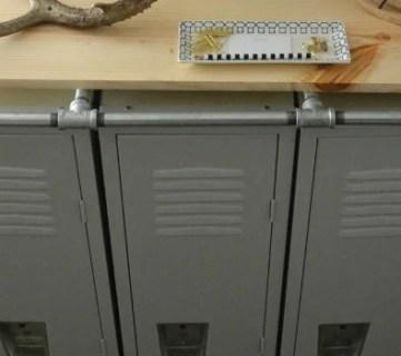 Industrial Style Mudroom Locker System
