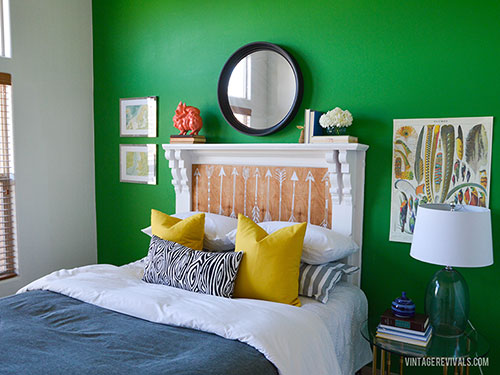fireplace-mantle-headboard-good-housekeeping