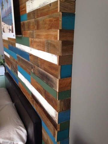 focal wall plank headboard, Pearls Pinstripes and Peanut Butter on Remodelaholic