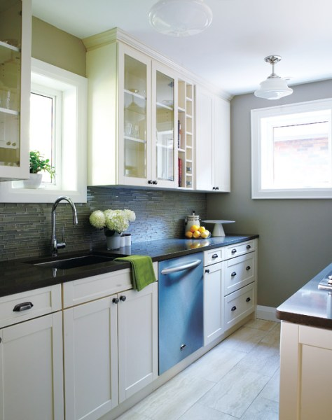 galley kitchen design layout Remodelaholic   Popular Kitchen Layouts and How to Use Them