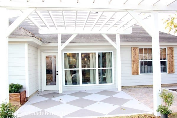 Update and beautify a concrete patio by The Handmade Home