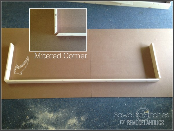 Mitered Corners for Ikea Lack Shelf Hack