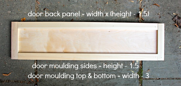 over fridge cabinet door dimensions