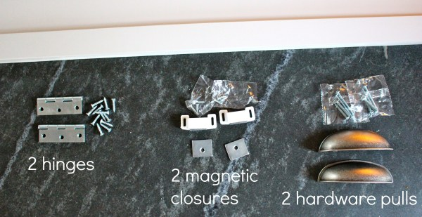 over fridge cabinet hardware
