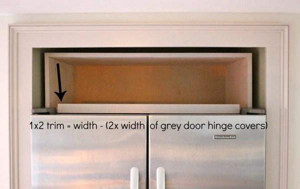 over fridge cabinet trim dimensions