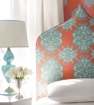 pointed arch ogee headboard via Spicer and Bank