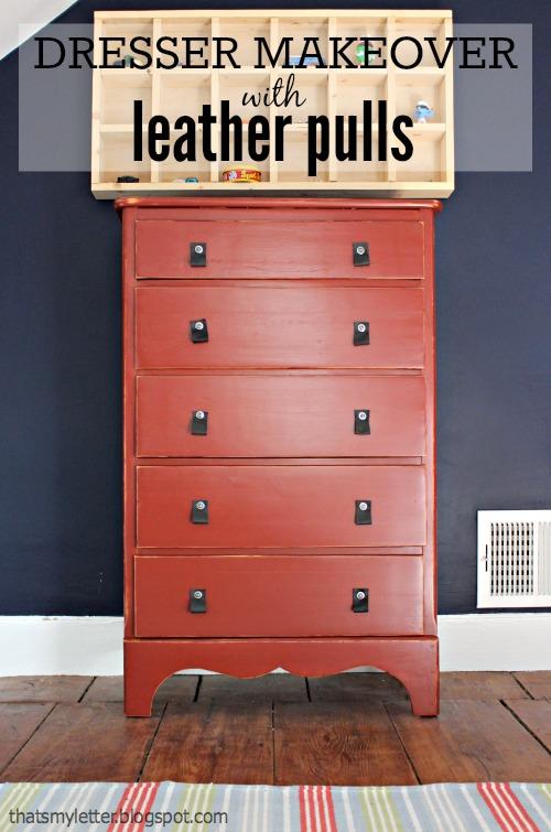 red dresser makeover