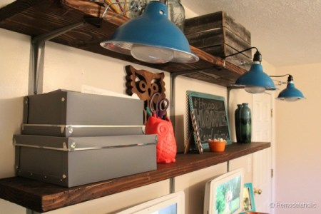 rustic wall shelves