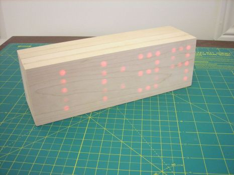 solid wood digital clock