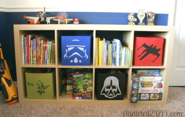 Star Wars Stencilled Storage Boxes
