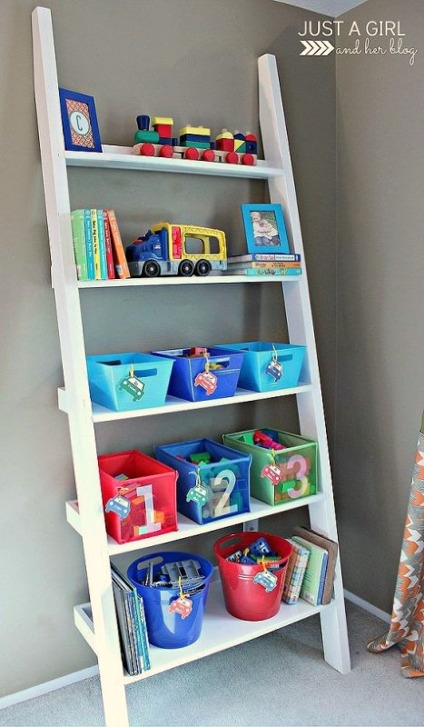 Shared Big Boy Room Storage for Toys