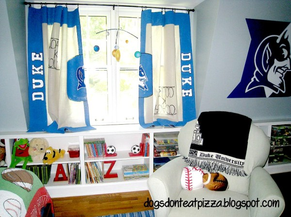 Blue Boys Room with Toy Organization
