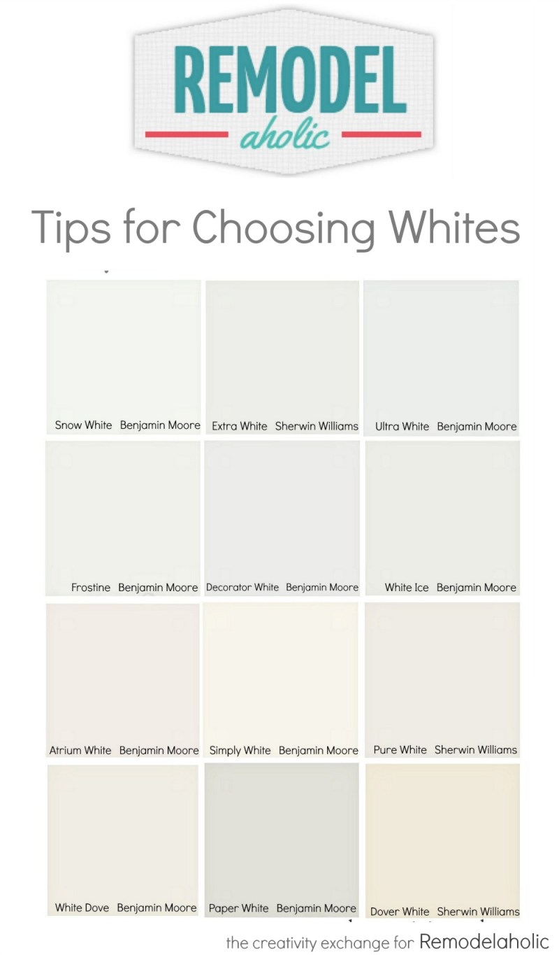 Quick Tricks For Choosing The Perfect White Paint Color Remodelaholic Com