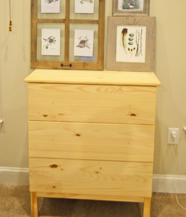 Ikea Tarva Dresser to Pottery Barn Apothecary Cabinet Hack @Remodelaholic #ikeahack #knockoff #apothecarycabinet #DIY on Remodelaholic.com