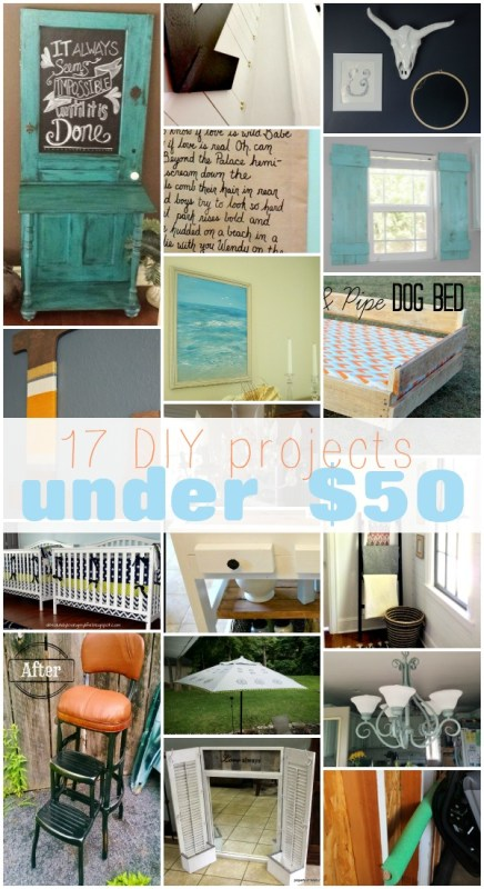 17 DIY Projects Under $50 | Remodelaholic.com #onabudget