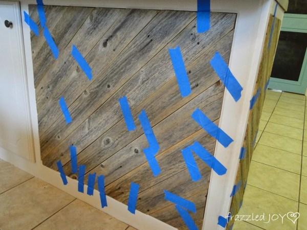 diagonal planked kitchen island diy tutorial, Frazzled Joy on Remodelaholic