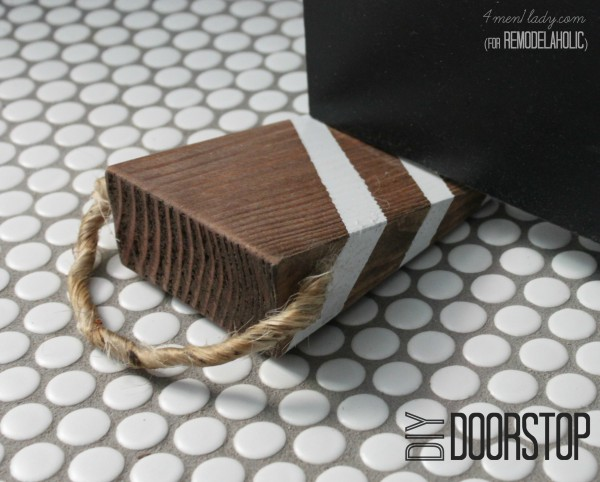 diy doorstop on Remodelaholic