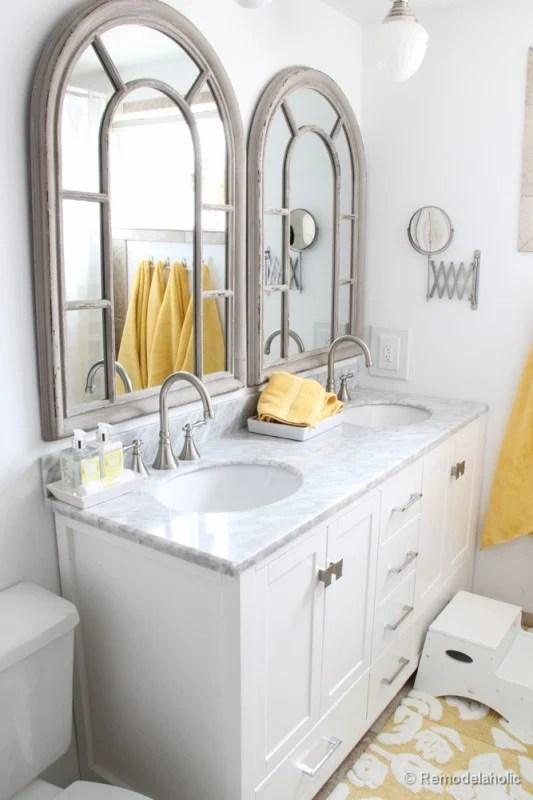 double bathroom mirrors