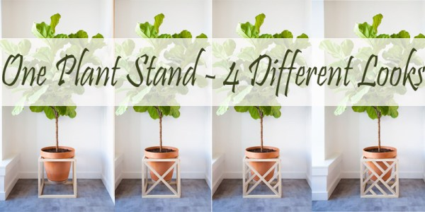 modern cube plant stand
