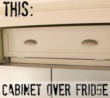 Build a Cabinet Over the Fridge