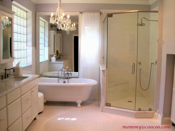 white master bathroom makeover, Mommy is Coocoo on Remodelaholic