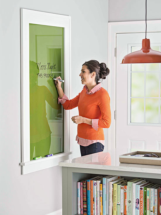 build a glass dry erase message board and frame