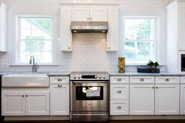 6 renovated kitchen with white subway tile marble and farmhouse sink, Cobblestone DG on Remodelaholic