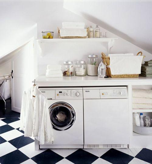 Attic Laundry room space