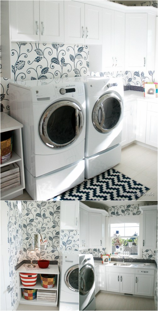 Bright and beautiful laundry room
