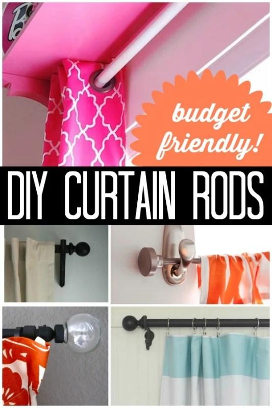 Budget-Friendly DIY Curtain Rods via Remodelaholic.com #AllThingsWindows