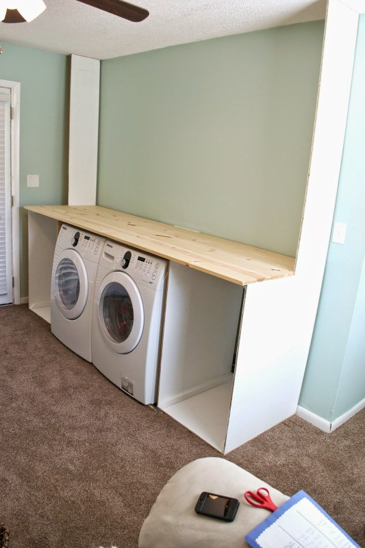 Building the laundry unit 04, Seesaws and Sawhorses on Remodelaholic