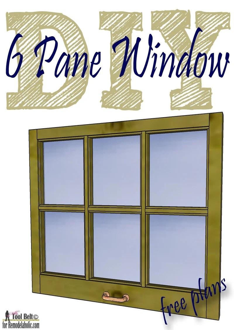 DIY 6 pane window free plans