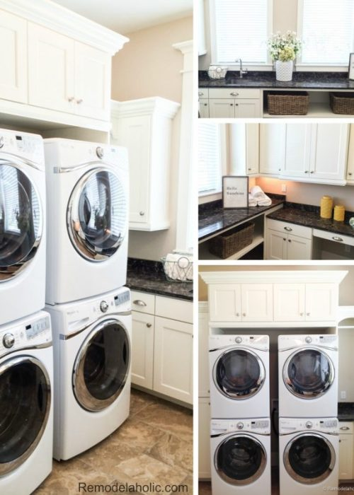 Double laundry with crafting space