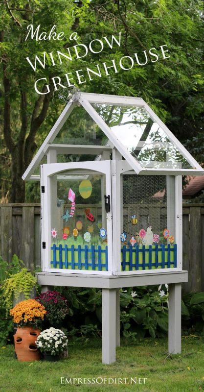Empress of Dirt - make a window greenhouse - via Remodelaholic