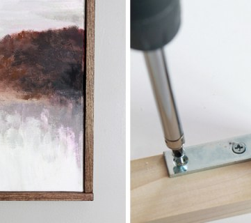 Tutorial: Chic Floating Frame for a Canvas
