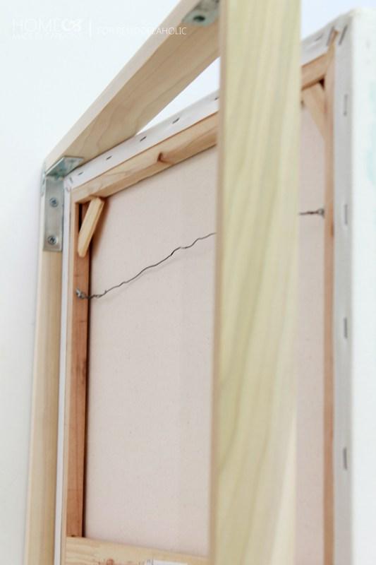 Floating Frame -insert canvas - for Remodelaholic