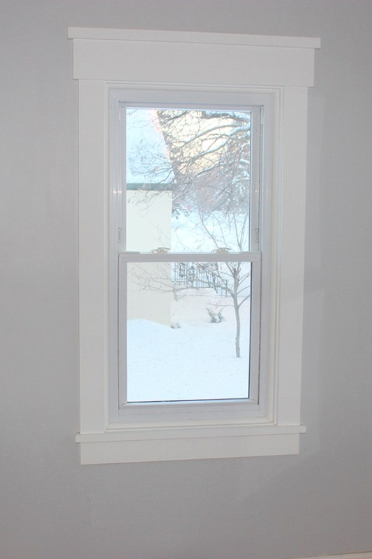Home Coming on Teal and Lime carpenter tips for installing window trim via Remodelaholic
