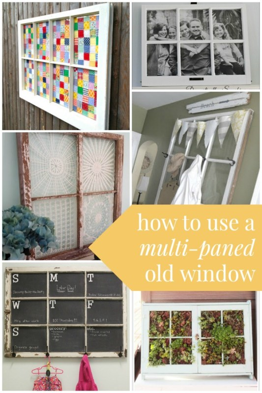 How to Use an Old Window with Pane Dividers via Remodelaholic