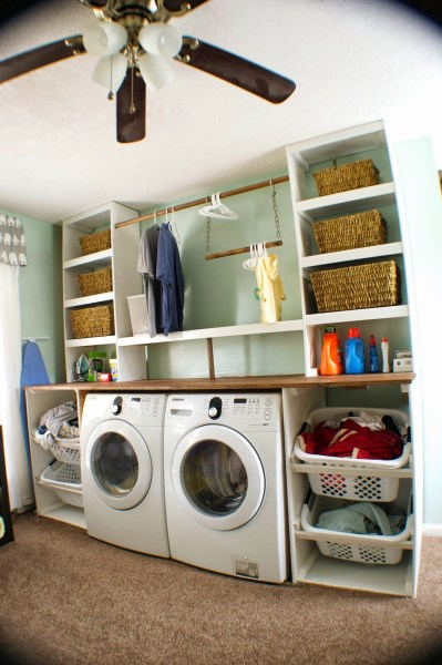 How to build a built-in laundry unit, Seesaws and Sawhorses on Remodelaholic