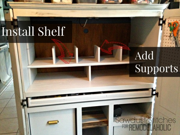 Install  supports and shelf