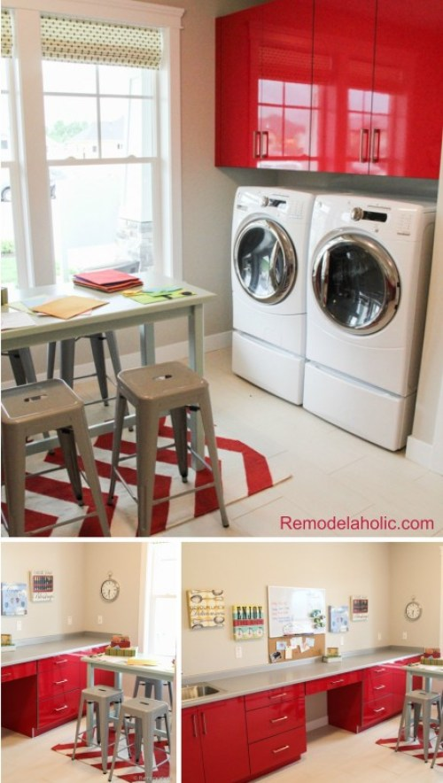 Kids homework, craft and laundry room